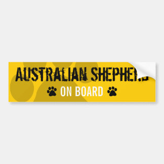Australian Shepherd on Board Bumper Sticker