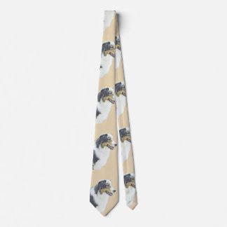 Australian Shepherd Painting - Original Dog Art Tie