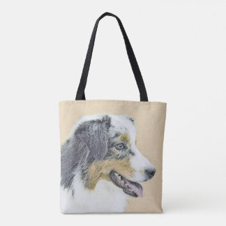 Australian Shepherd Painting - Original Dog Art Tote Bag