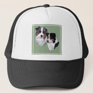 Australian Shepherd Pair Trucker Hat