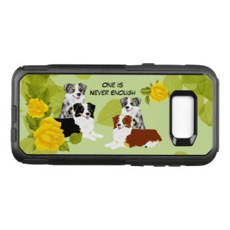 Australian Shepherd Pairs and Yellow Roses OtterBox Commuter Samsung Galaxy S8+ Case