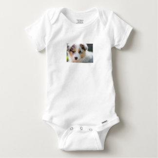 Australian shepherd puppy baby onesie