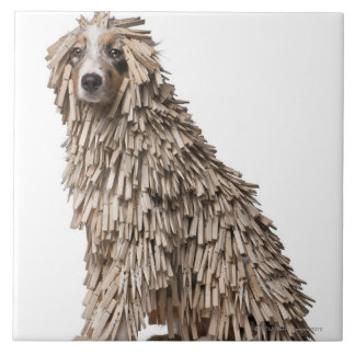 Australian Shepherd puppy full of Clothespin (5 Tile