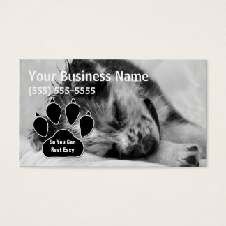 Australian Shepherd Puppy Pet Sitter Business Card