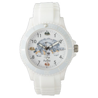 Australian Shepherd Puppy Womens Watch