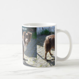 australian shepherd red tri love w pic coffee mug