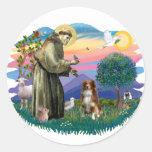 Australian Shepherd (red / white)) Round Sticker