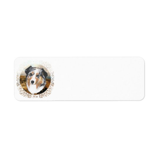 Australian Shepherd Return Address Label