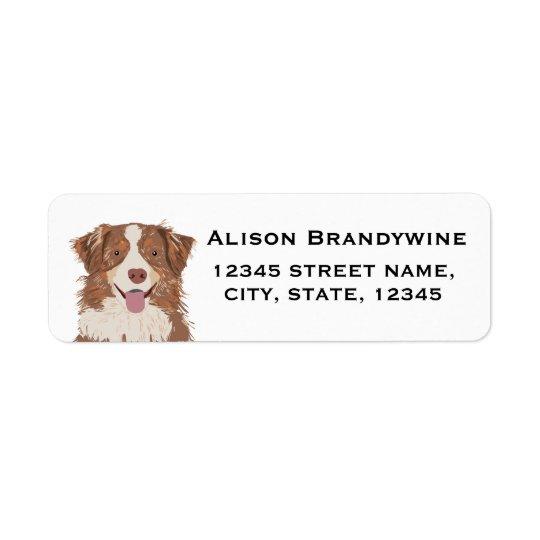 Australian Shepherd - return address labels