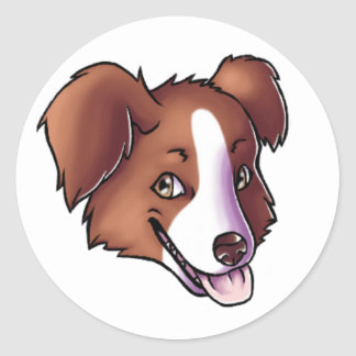 Australian Shepherd Round Sticker