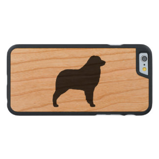 Australian Shepherd Silhouette Carved Cherry iPhone 6 Case