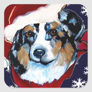 AUSTRALIAN SHEPHERD SQUARE STICKER