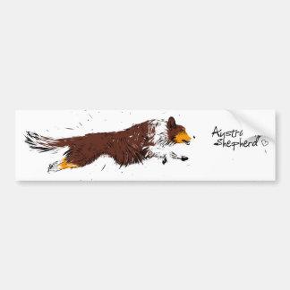 Australian Shepherd, talk trichloroethylene Bumper Sticker