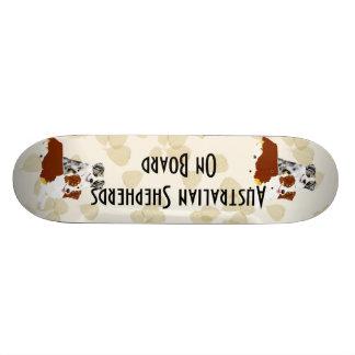 Australian Shepherd ~ Tan Leaves Motiff Skateboard Decks