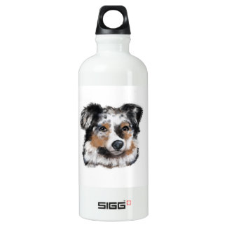 Australian Shepherd Water Bottle