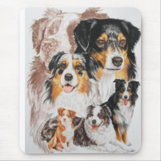 Australian Shepherd with Ghost Mouse Pad