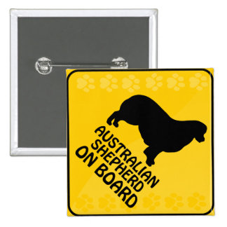 Australian Shepherd Xing 15 Cm Square Badge