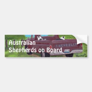 Australian Shepherds on Board Bumper Sticker