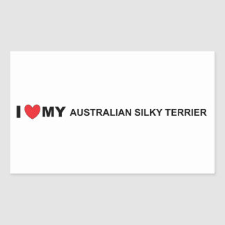 australian silky love rectangular sticker