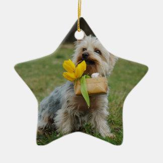 Australian Silky Terrier Dog Ceramic Ornament