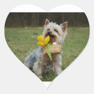 Australian Silky Terrier Dog Heart Sticker