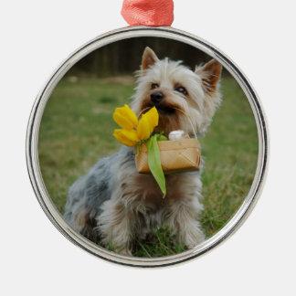 Australian Silky Terrier Dog Metal Ornament