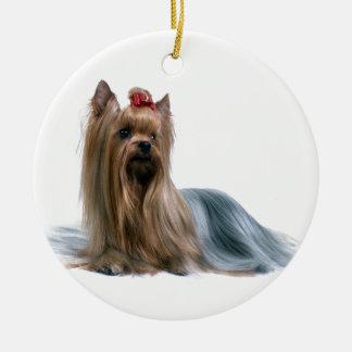 Australian Silky Terrier Dog Show Dog Ceramic Ornament