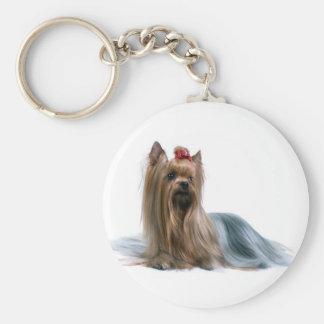 Australian Silky Terrier Dog Show Dog Key Ring