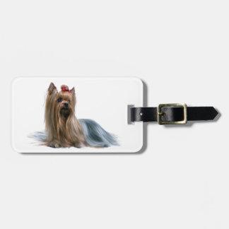 Australian Silky Terrier Dog Show Dog Luggage Tag