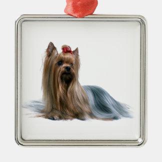 Australian Silky Terrier Dog Show Dog Metal Ornament
