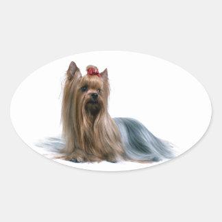 Australian Silky Terrier Dog Show Dog Oval Sticker