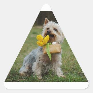 Australian Silky Terrier Dog Triangle Sticker