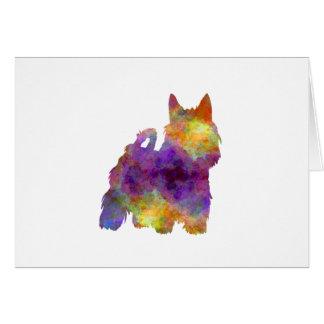 Australian Silky Terrier in watercolor Card