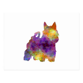 Australian Silky Terrier in watercolor Postcard