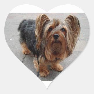 Australian Silky Terrier Puppy Dog Heart Sticker