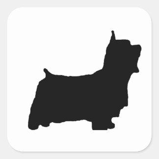 australian_silky_terrier silo square sticker