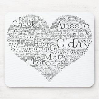 Australian slang heart mouse pad