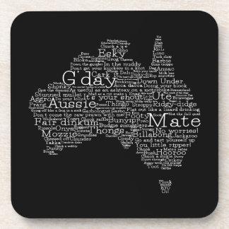 Australian slang map coasters