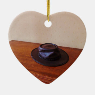 Australian Stockman's Hat Ceramic Ornament