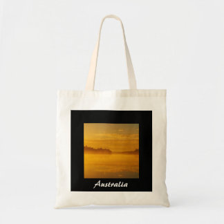 Australian sunrise tote bag