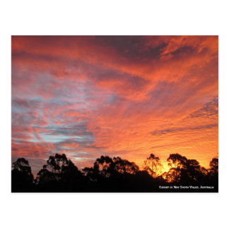 Australian Sunset Postcard