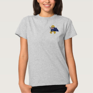Australian  - Support Our Troops Embroidered Shirt