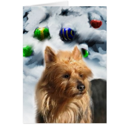 Australian Terrier Christmas Gifts Greeting Cards
