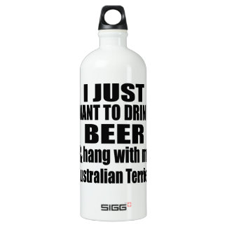 Australian Terrier Dog Designs SIGG Traveller 1.0L Water Bottle