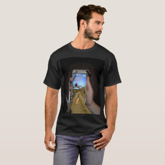 Australian Theme Mobile Phone Popout Art, T-Shirt