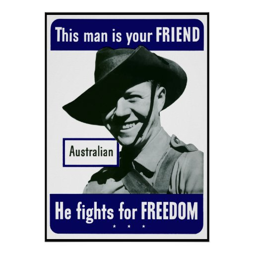 Australian -- This Man Is Your Friend -- Border Posters