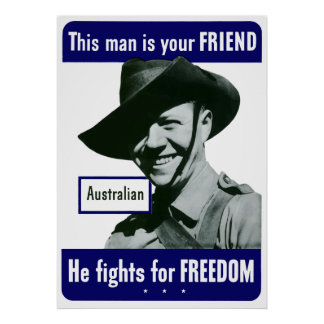 Australian -- This Man Is Your Friend Poster