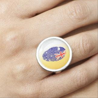 Australian touch fingerprint flag