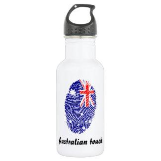 Australian touch fingerprint flag 532 ml water bottle