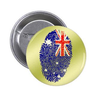 Australian touch fingerprint flag 6 cm round badge
